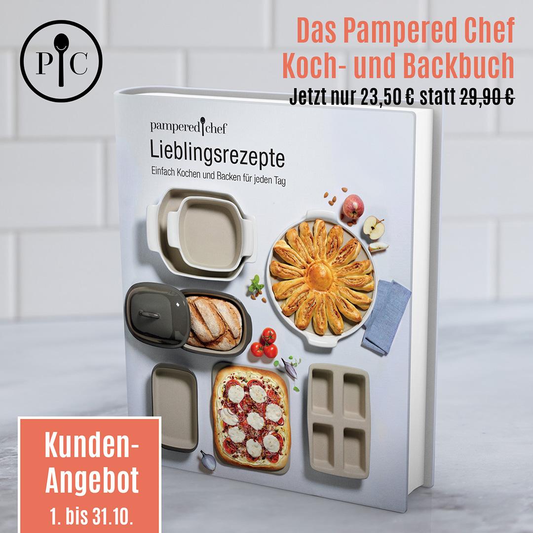 Koch- und Backbuch als Angebot im Oktober von Pampered Chef®