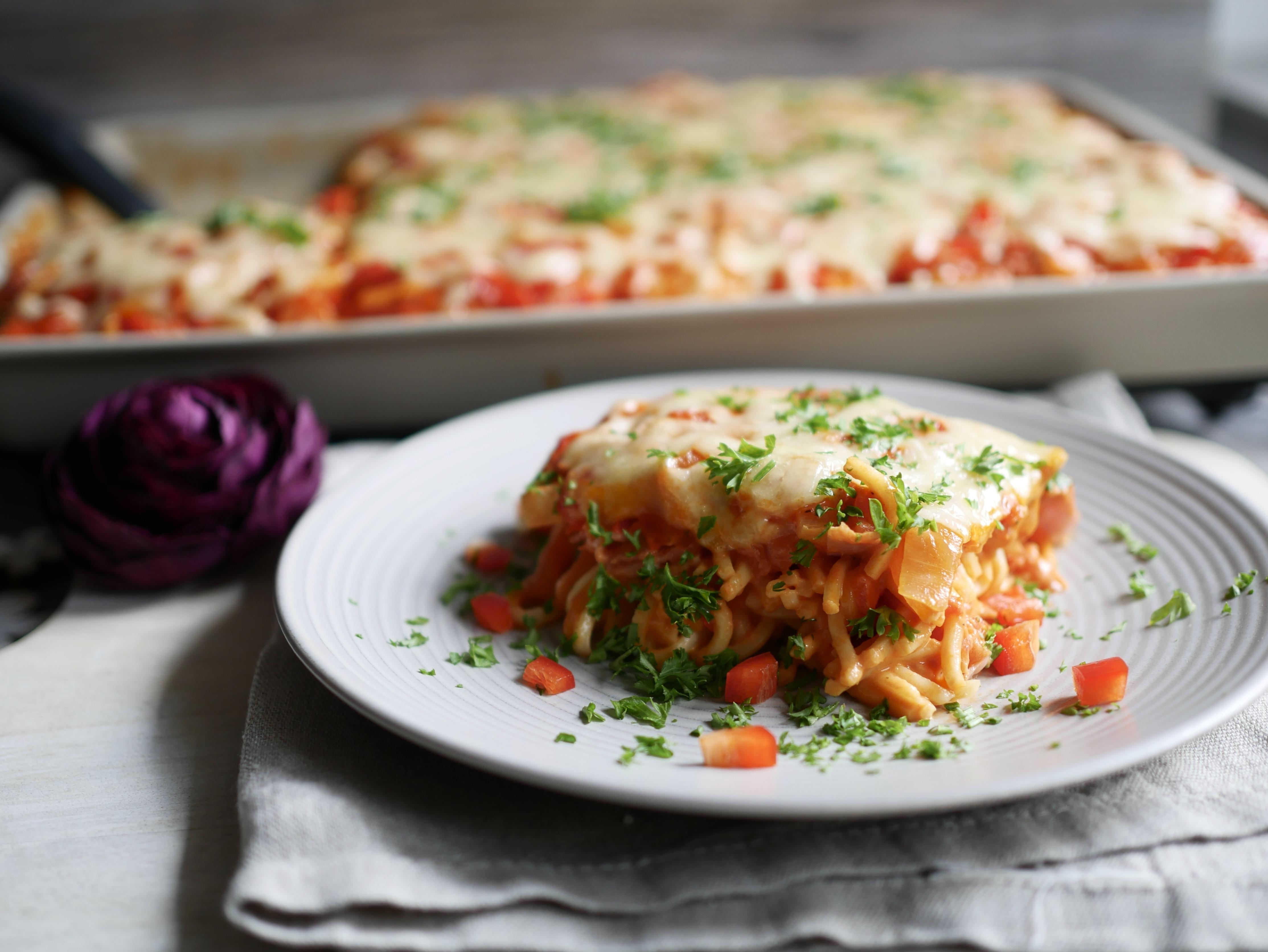 Spaghetti Pizza vom großer Ofenzauberer von Pampered Chef®