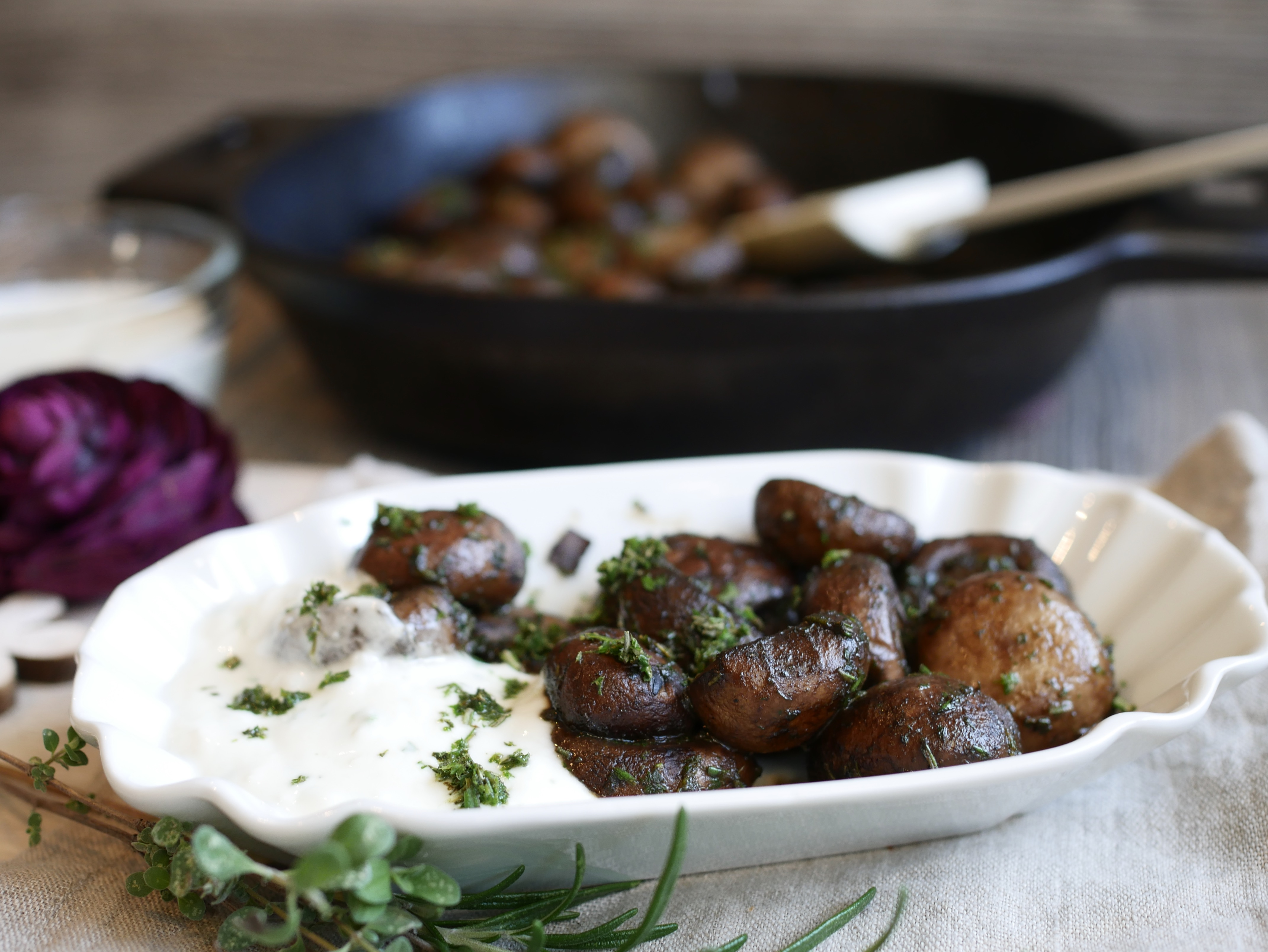 Rezept Champignon-Pfanne aus der gusseisernen Pfanne von Pampered Chef®