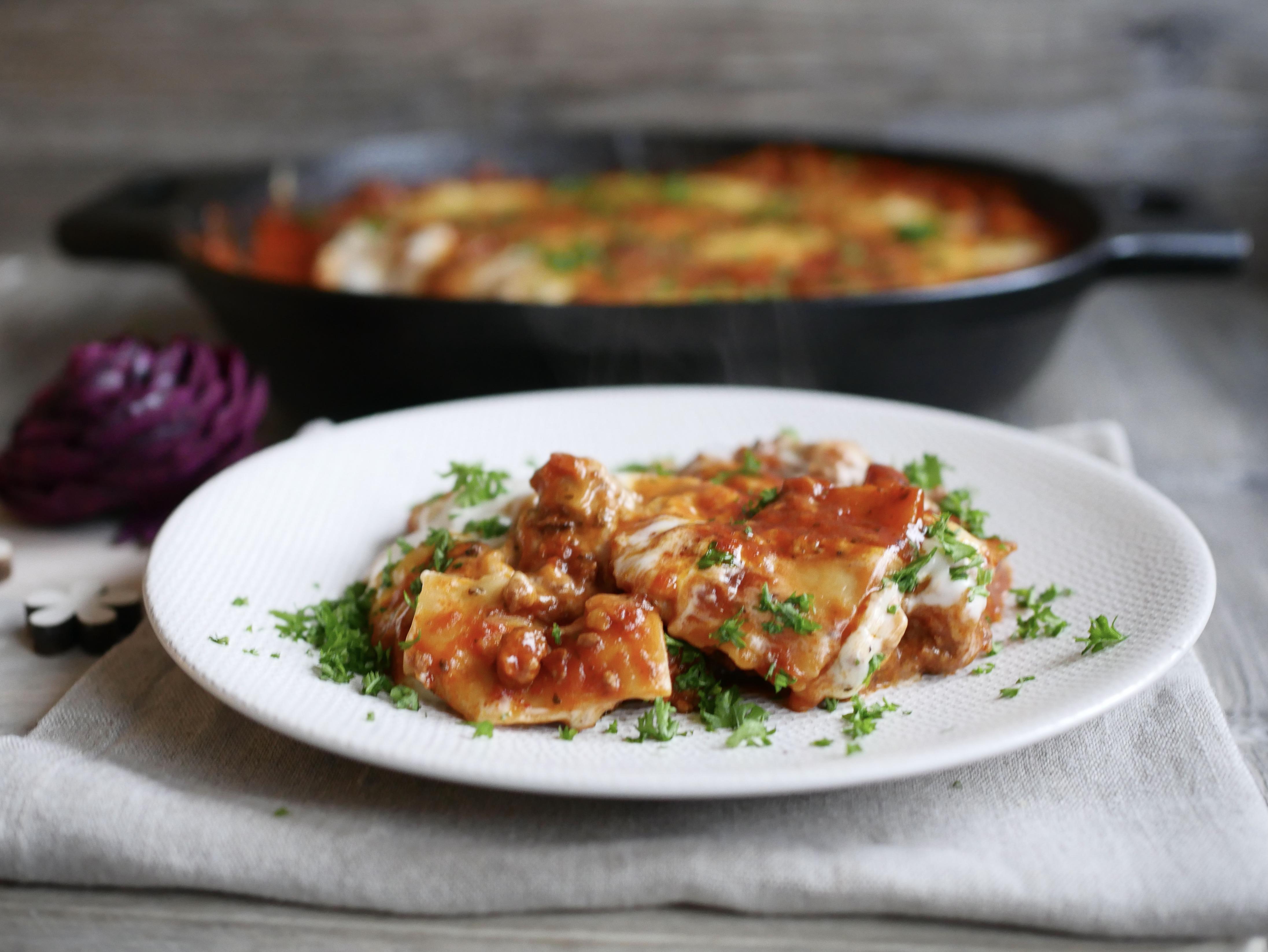 Schnelle Lasagne aus der Gusspfanne von Pampered Chef®