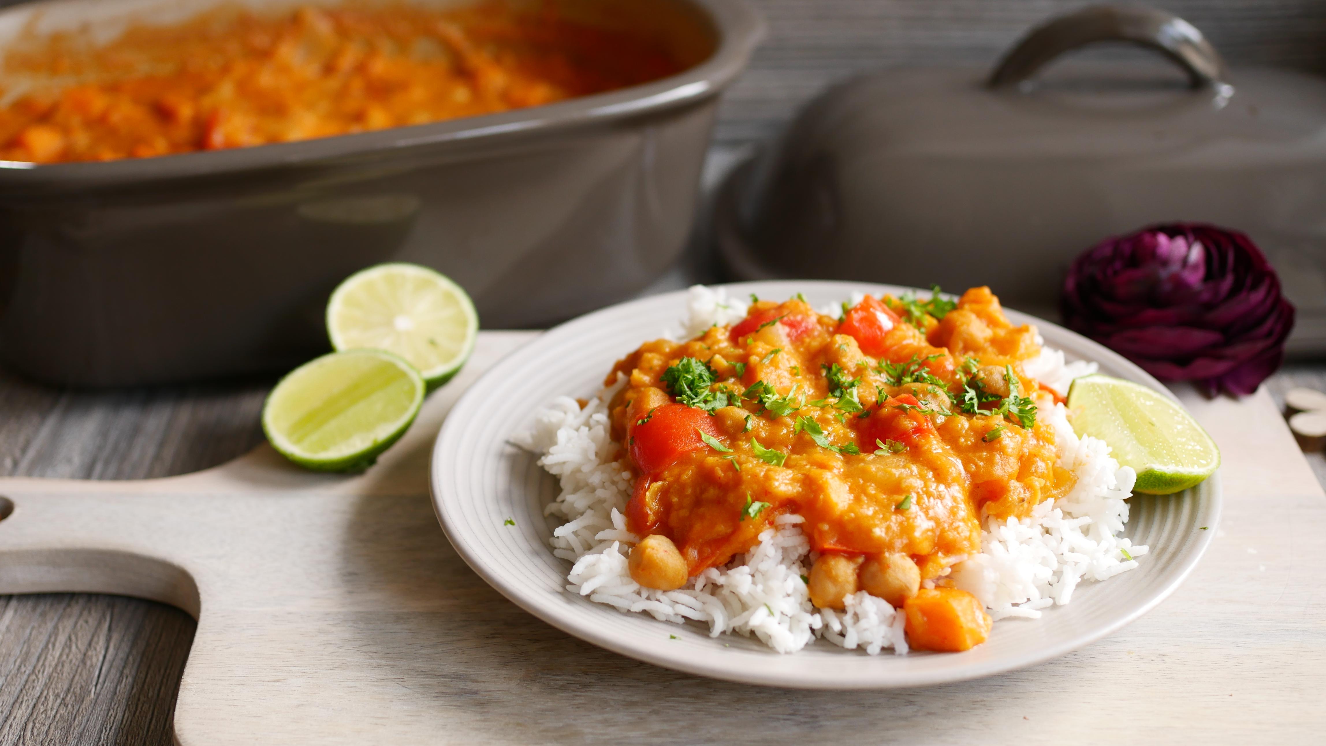 Süßkartoffel Curry aus dem Ofenmeister von Pampered Chef®
